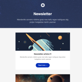 Newsletter with Content Dividers