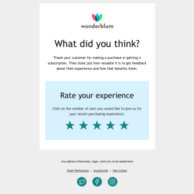 Customer Loyalty - Rate & Review
