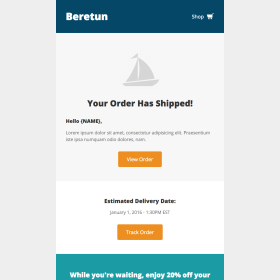 Beretun: Order Shipped