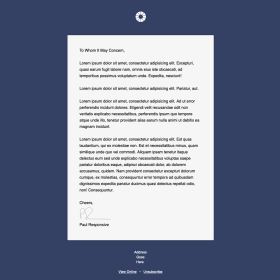 Personal Note - Letter style