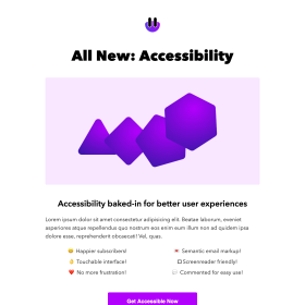 Accessible Product Announcement Email