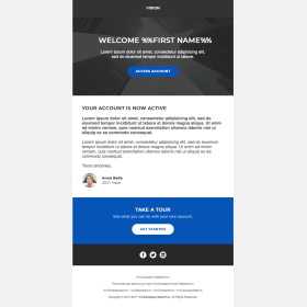 Customer Loyalty : Welcome Letter with Buttons